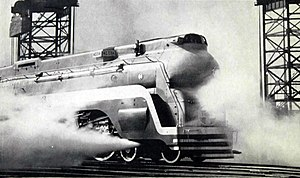Chief (train) - Image: Santa Fe streamlined steam locomotive the Chief