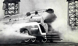 Chief (train) - Image: Santa Fe streamlined steam locomotive the Chief