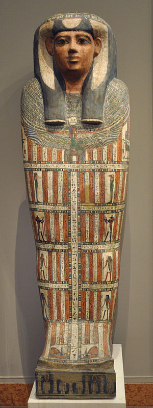 Ordination of women - Sarcophagus of the Egyptian priestess Iset-en-kheb, 25th–26th dynasty (7th–6th century BC)