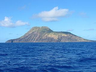 uninhabited volcanic island in the Pacific Ocean