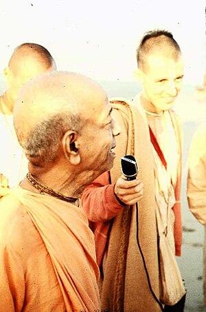 Satsvarupa dasa Goswami -  Satsvarupa dasa Goswami with A.C. Bhaktivedanta Swami Prabhupada in 1974