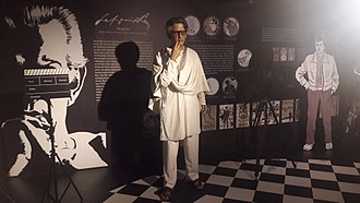 Wax museum - Satyajit Ray at Mother's Wax Museum, Calcutta