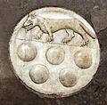 Scavi di santa reparata sotto il duomo di firenze, lastra tombale di fra nicola squarcialupi, cavaliere gerosolimitano, 1313, 02.JPG