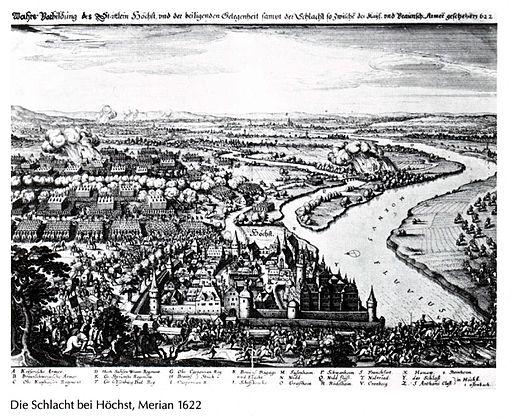 Schlacht bei Höchst Merian 1622