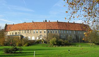 Steinfurt Place in North Rhine-Westphalia, Germany