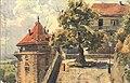 Schlosslinde und Fünfeckturm (Aquarell-AK 1925).jpg