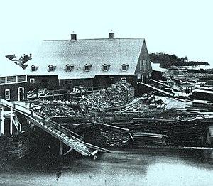 Hawkesbury, Ontario - Image: Scierie Hamilton Hawkesbury Ontario 1859