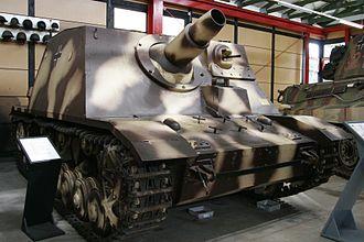 Brummbär - Sturmpanzer on display at the Deutsches Panzermuseum Munster, Germany