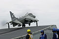 Sea Harrier FA2 801 NAS taking off from HMS Illustrious (R06) 2001.jpeg