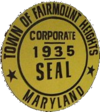 Official seal of Fairmount Heights, Maryland