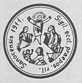 Seal of roman-catholic parish of Transfiguration in Sanok (1911).jpg