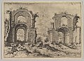 Second View of the Baths of Diocletian, from set of Roman Ruins MET DP821174.jpg
