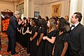 Secretary Kerry Greets the Davis Middle School Women's Choir That Performed at the Annual Diplomacy at Home for the Holidays Reception (23500950620).jpg