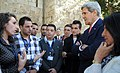 Secretary Kerry Speaks With Palestinian Youth in Bethlehem (10708795753).jpg