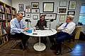 "Secretary Kerry and University of Chicago Institute of Politics Director Axelrod Chat Before Taping a Podcast for the ""Axe Files"" Series (30585329625).jpg"
