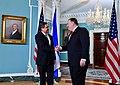 Secretary Pompeo Welcomes Honduran President Hernandez to Washington (42167633384).jpg