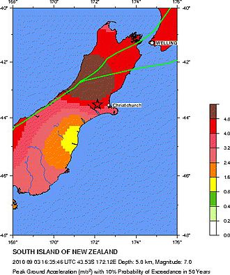2010 Canterbury earthquake - Seismic hazard near the epicentre