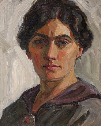 Selma Des Coudres - Self-portrait (Private collection; used by permission. Date unknown)
