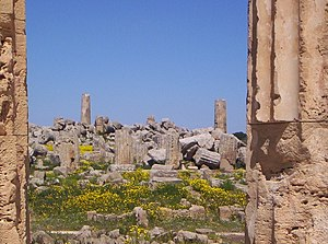 House demolition - The ruins of Selinus, razed by Carthage around 250 BC