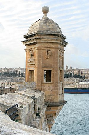 Vedette (sentry) - Gardjola is a type of vedette (Senglea, Malta)