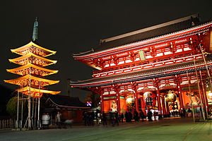 Asakusa - Sensō-ji at night
