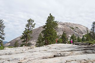 Sentinel Dome granite dome in Yosemite National Park