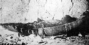 "Setnakhte - The ""mummy in the boat"" from KV35, before its destruction"