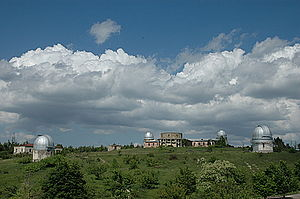 Panoramic view of the Shamakhi Astrophysical Observatory