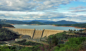 Shasta County, California - Image: Shasta Dam Colored