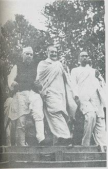 Sheikh, Nehru and Badshah Khan 1945.jpg
