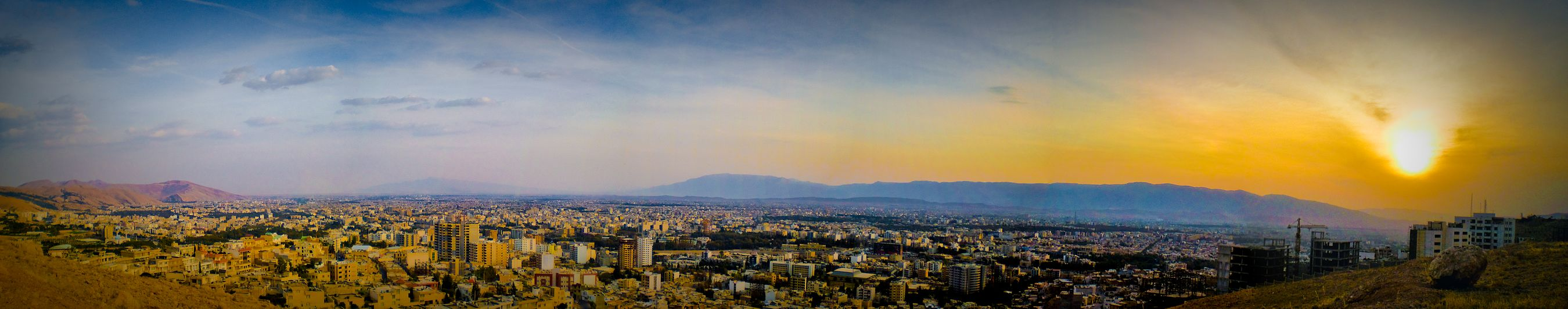 A panoramic view of Shiraz in autumn 2009 - Shiraz