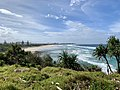 Shore to the north seen from Fingal Head, New South Wales 01.jpg