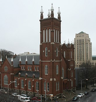 Roman Catholic Archdiocese of Atlanta - Shrine of the Immaculate Conception in Downtown Atlanta, whose pastor convinced Sherman not to burn the city's churches