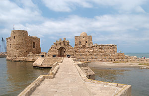 The Sea castle in Sidon, Lebanon