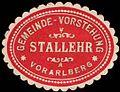 Siegelmarke Gemeinde-Vorstehung Stallehr - Vorarlberg W0261052.jpg