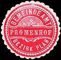 Siegelmarke Gemeindeamt Promenhof - Bezirk Plan W0246470.jpg