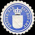 Siegelmarke Grosherzoglich Badische Hof - Bau - Amt W0225975.jpg