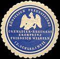 Siegelmarke Königlich Preussisches Grenadier - Regiment Kronprinz Friedrich Wilhelm (2. Schlesische) No. 11 W0237973.jpg