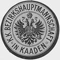 Siegelmarke K.K. Bezirkshauptmannschaft in Kaaden W0319759.jpg