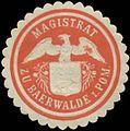 Siegelmarke Magistrat zu Bärwalde-Pommern W0383996.jpg