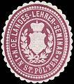 Siegelmarke N. Oe. Landes-Lehrer-Seminar in St. Pölten W0320948.jpg