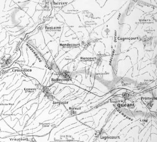 First attack on Bullecourt, 11 April 1917