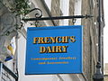 Sign for French's Dairy (not), Rugby Street, WC1 - geograph.org.uk - 1238229.jpg
