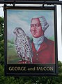 Sign for the George and Falcon, Warnford - geograph.org.uk - 1330519.jpg