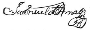 Manuel de Amat y Junyent - Image: Signature M Amat