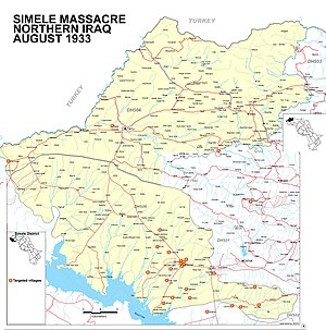 Simele massacre - The targeted villages in the Simele and Zakho districts