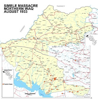 Assyrian independence movement - The targeted villages in the Simele and Zakho districts