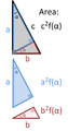 Similarity proof Pythagoras' theorem.PNG