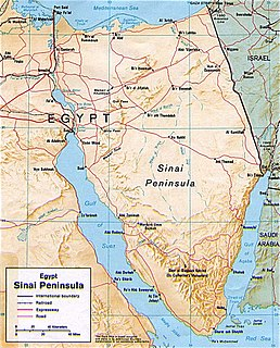 Sinai insurgency conflict, starting 23 February 2011, ignited by Islamist militants in the Sinai Peninsula