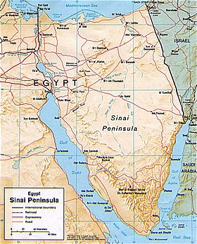 The Sinai Peninsula or Sinai